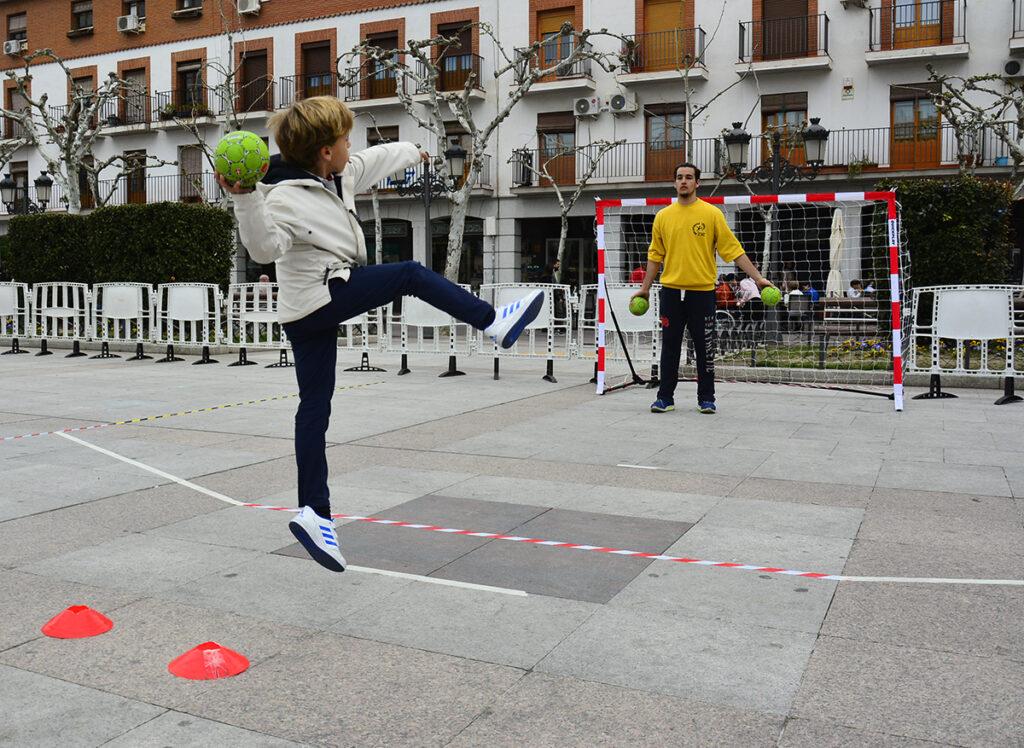 Imagen de balonmano en Fuenlabrada.