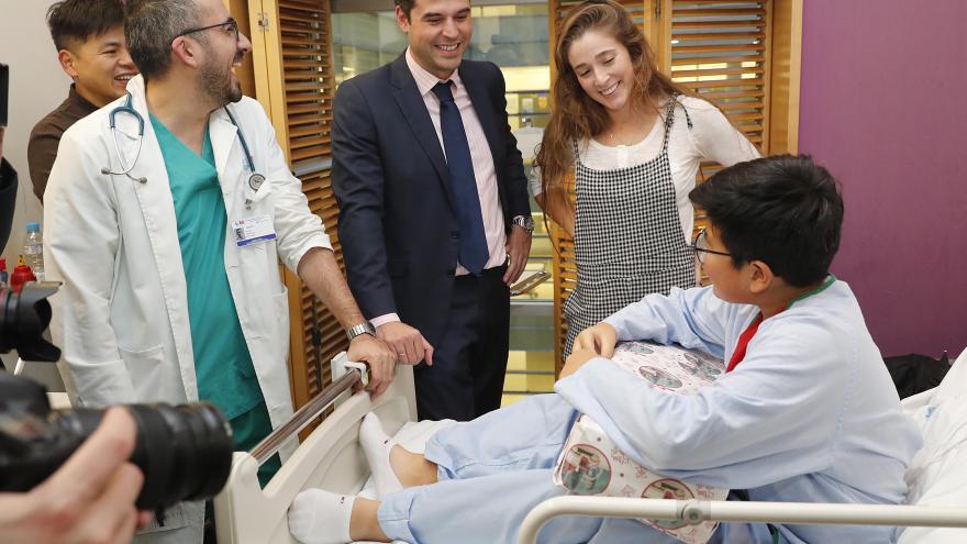 Foto: Ignacio Aguado en la campaña de reparto.